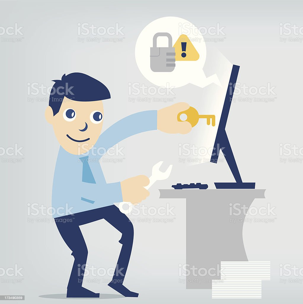 fixing computer royalty-free fixing computer stock vector art & more images of business