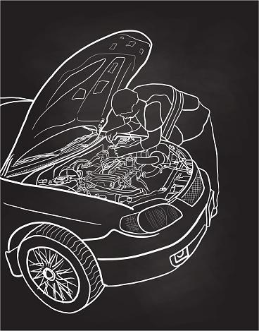 Fixing The Car Chalkboard