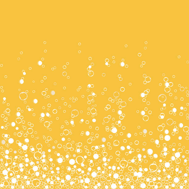 Fizzy champagne drink isolated on white background. Air bubbles. Vector Fizzy drink yellow background, champagne texture isolated on white background. Air bubbles Underwater fizzing. Vector animal captivity building stock illustrations