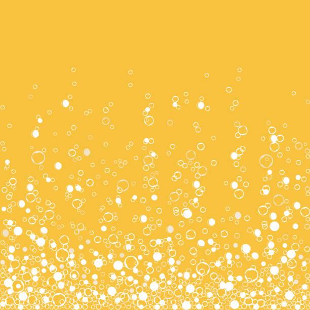 gazowany napój szampana odizolowany na białym tle. pęcherzyki powietrza. wektor - bubble stock illustrations
