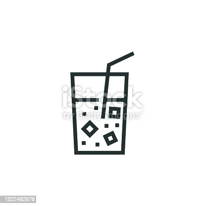 istock Fizzy Water Line Icon 1322482676
