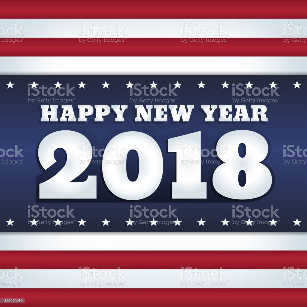 usa flag 2018 happy new year royalty free usa flag 2018 happy new year stock