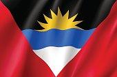 Flag Antigua Barbuda realistic icon