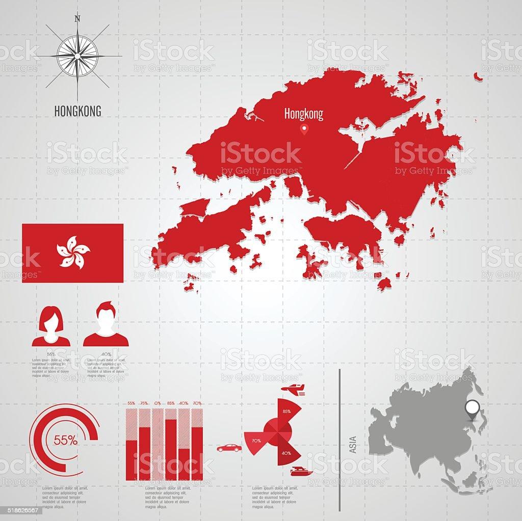 hongkong flag asia world map royalty free hongkong flag asia world map stock vector