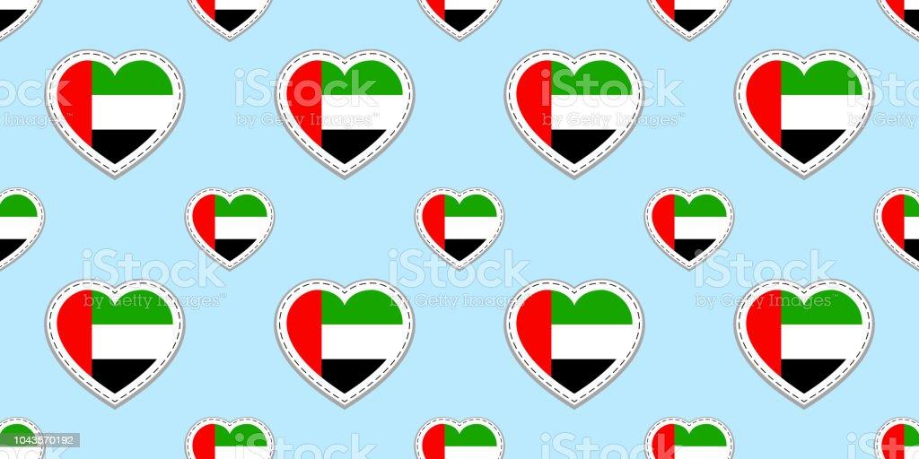 Uae Flag Background The United Arab Emirates Seamless Pattern Vector