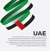 UAE, flag, country, culture, background, vector