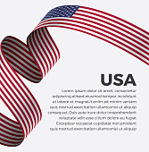 USA, flag, country, culture, background, vector