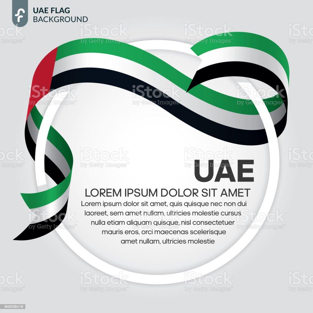 아랍 에미리트 연방 국기 배경 - 로열티 프리 공휴일 벡터 아트