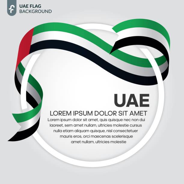birleşik arap emirlikleri bayrağı arka plan - abu dhabi stock illustrations