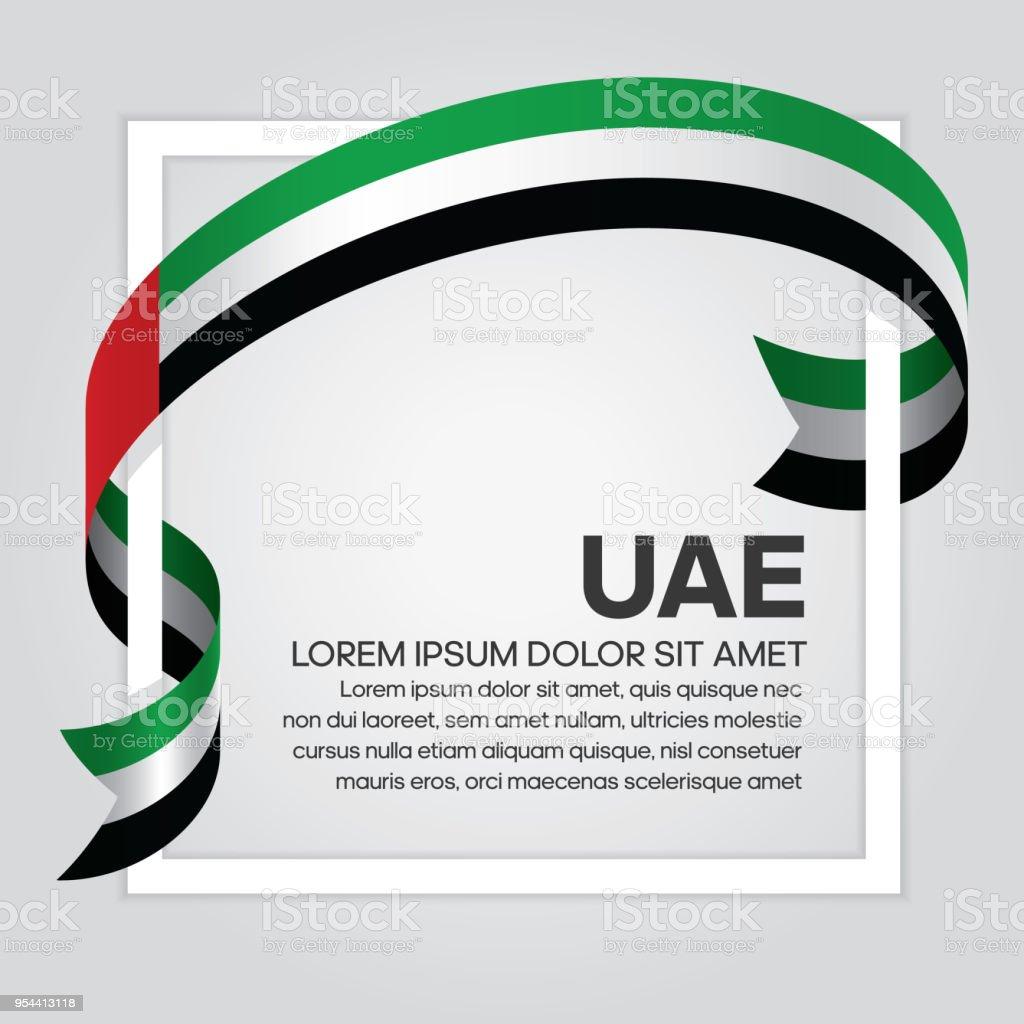 아랍 에미리트 연방 국기 배경 - 로열티 프리 거미줄 벡터 아트