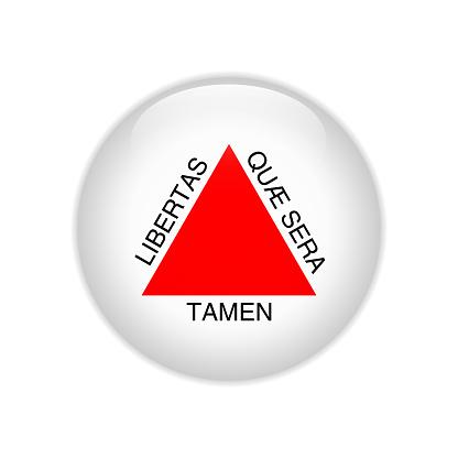 Flag Bandeira de Minas gerais on button