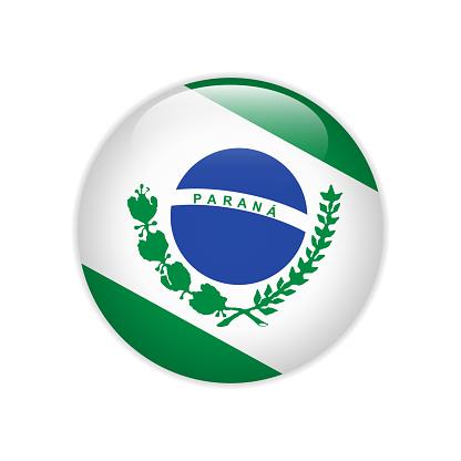 Flag Bandeira do Parana on button