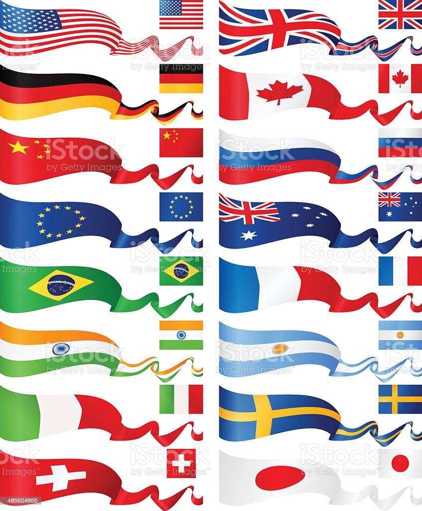 Bannières de drapeau-plus populaires - Illustration vectorielle