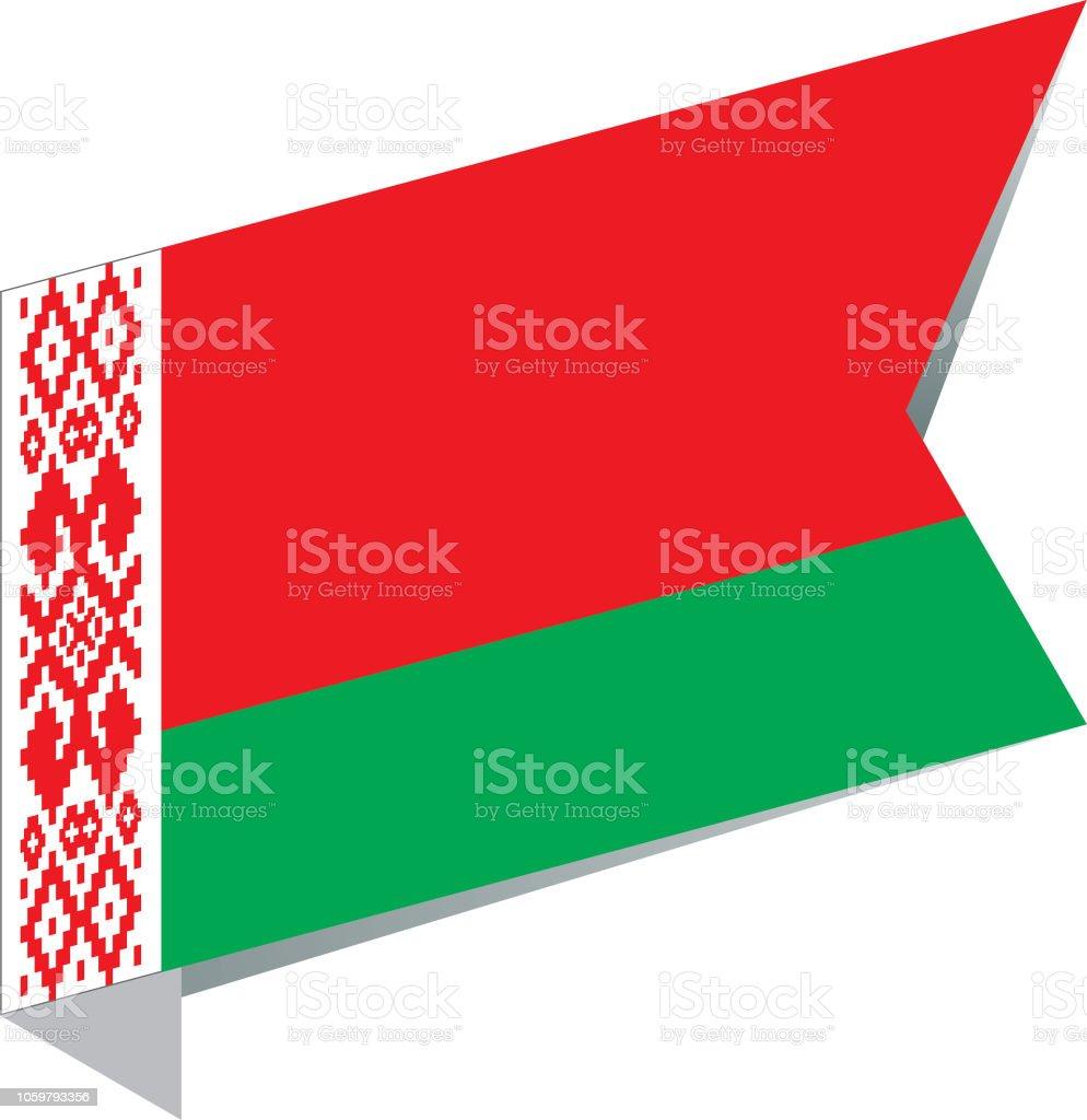 Flag Belarus vector art illustration