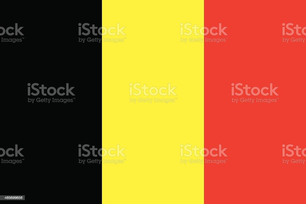 Flag  Belgium vector art illustration