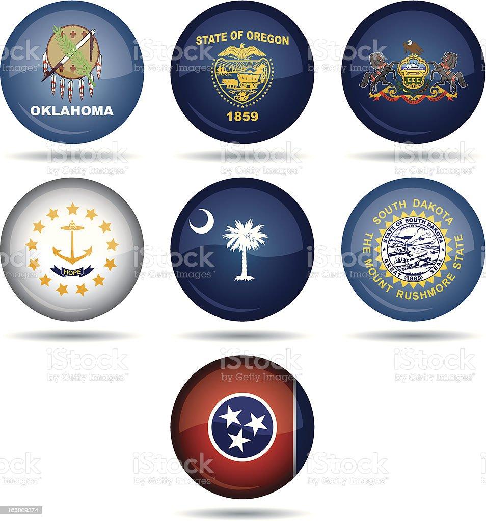 USA flag buttons royalty-free stock vector art