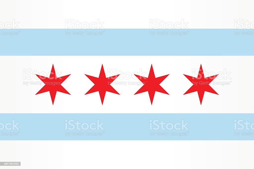 Flag Chicago vector art illustration
