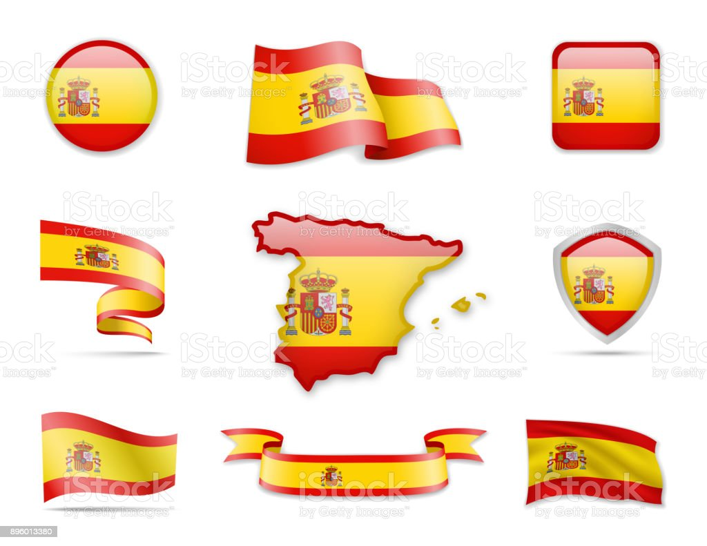 Flag Collection - Spanien-Set – Vektorgrafik