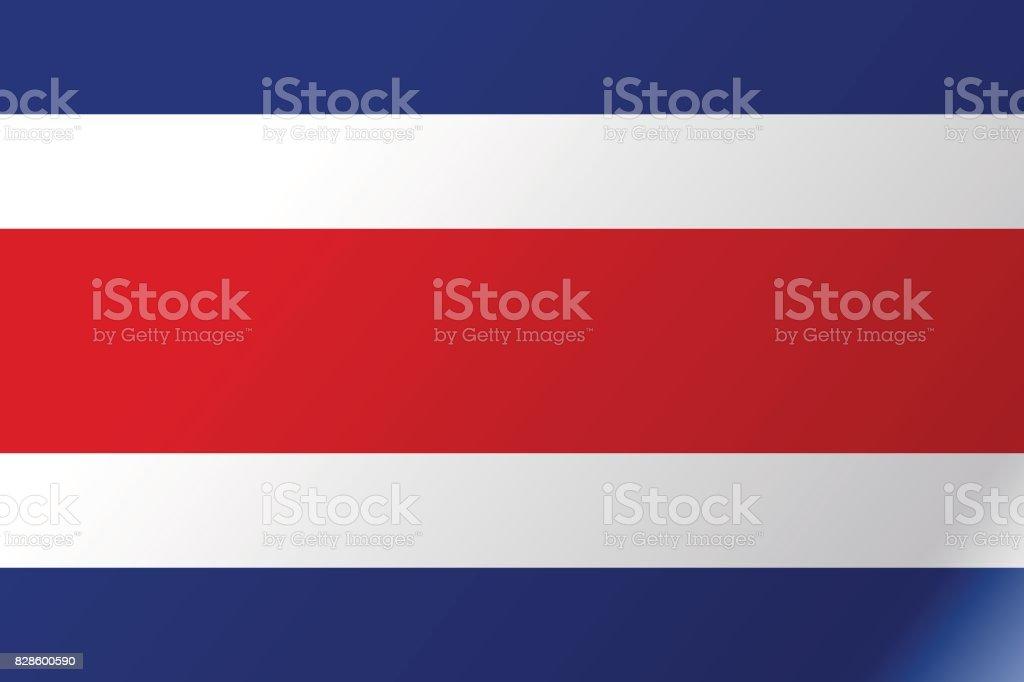 Plano icono de bandera costarricense - ilustración de arte vectorial