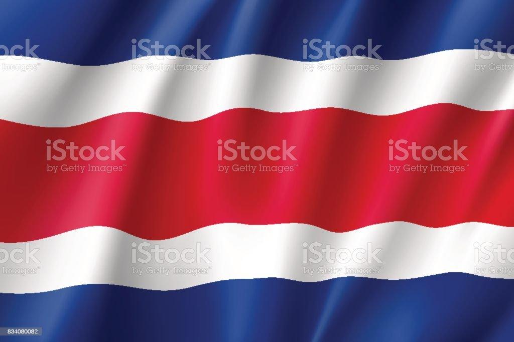 Realista icono de bandera costarricense - ilustración de arte vectorial