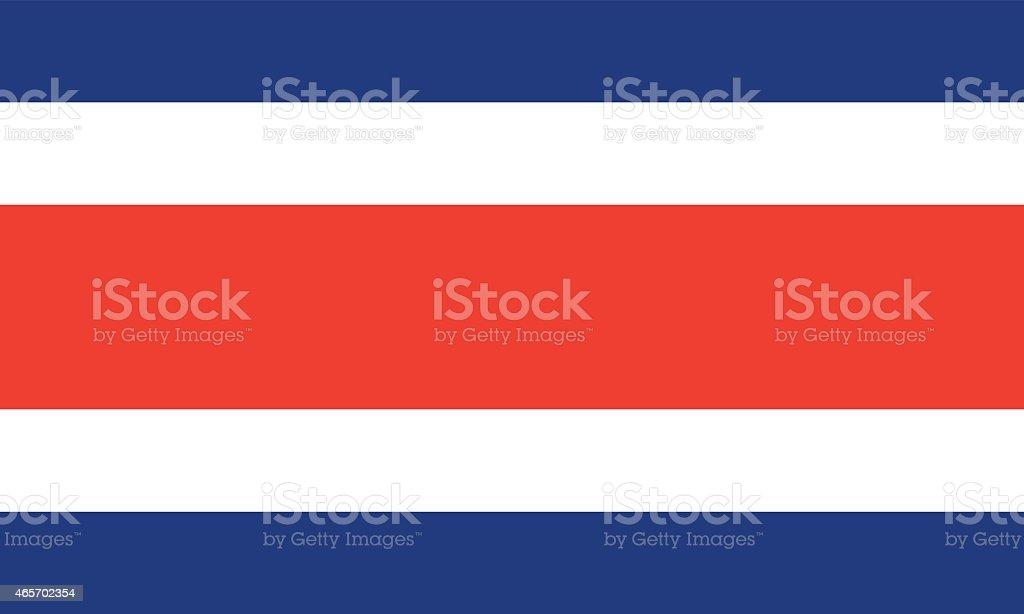 Bandeira da Costa Rica - ilustração de arte em vetor