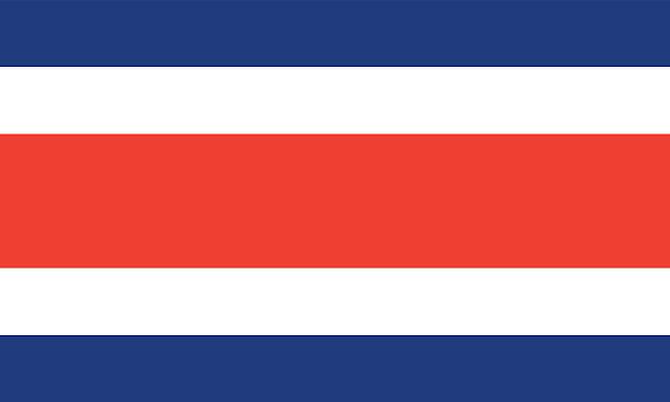 Costa Rica Flagge – Vektorgrafik