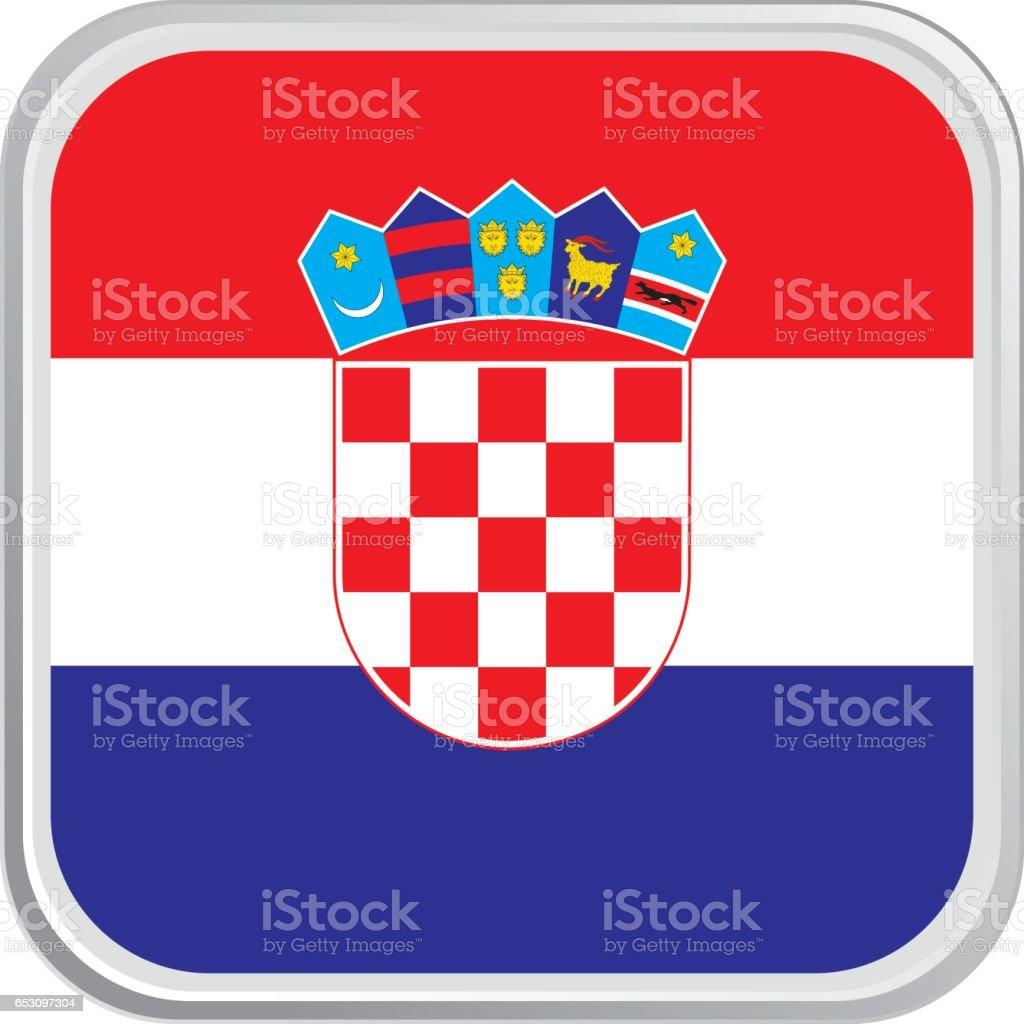 Bandera de croacia - ilustración de arte vectorial