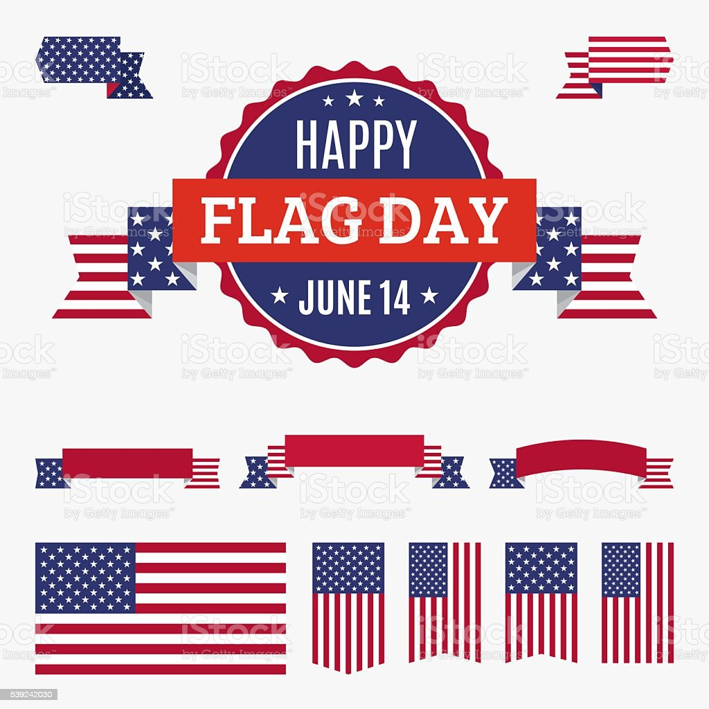 USA Flag day badge, banners and ribbons royalty-free usa flag day badge banners and ribbons stock vector art & more images of american flag