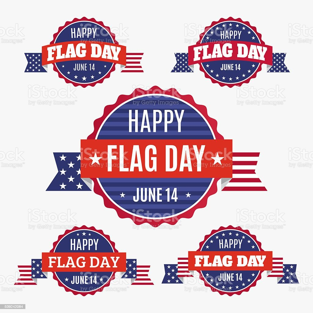 USA Flag day badges set royalty-free usa flag day badges set stock vector art & more images of american culture