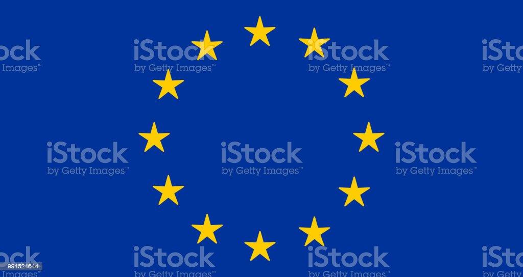 EU Flag Design Icon vector art illustration