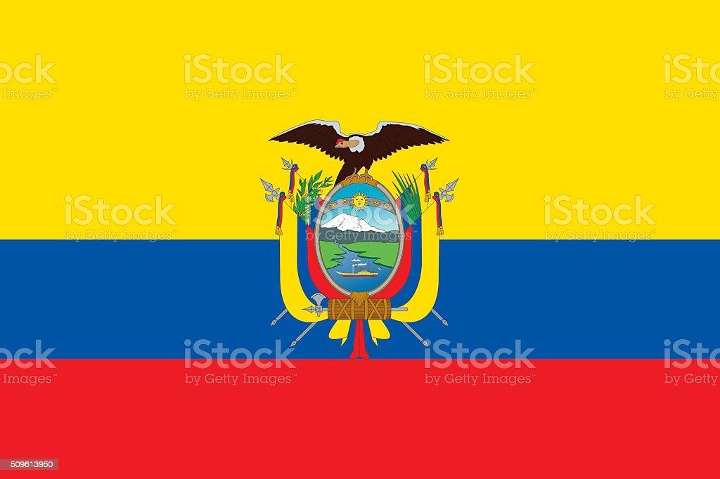 Flag Ecuador vector art illustration
