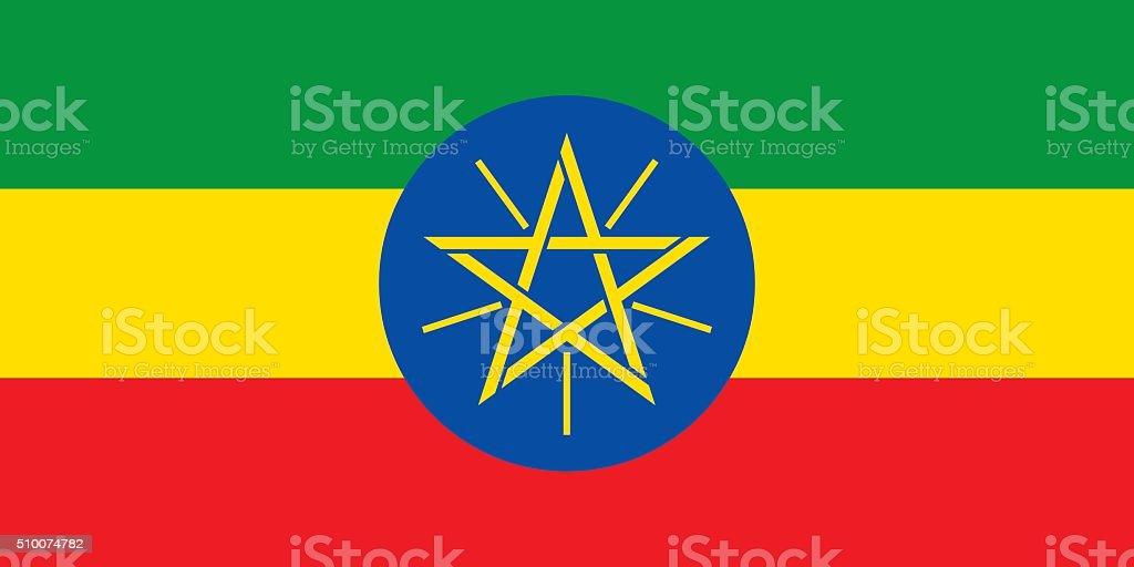 Flag Ethiopia vector art illustration