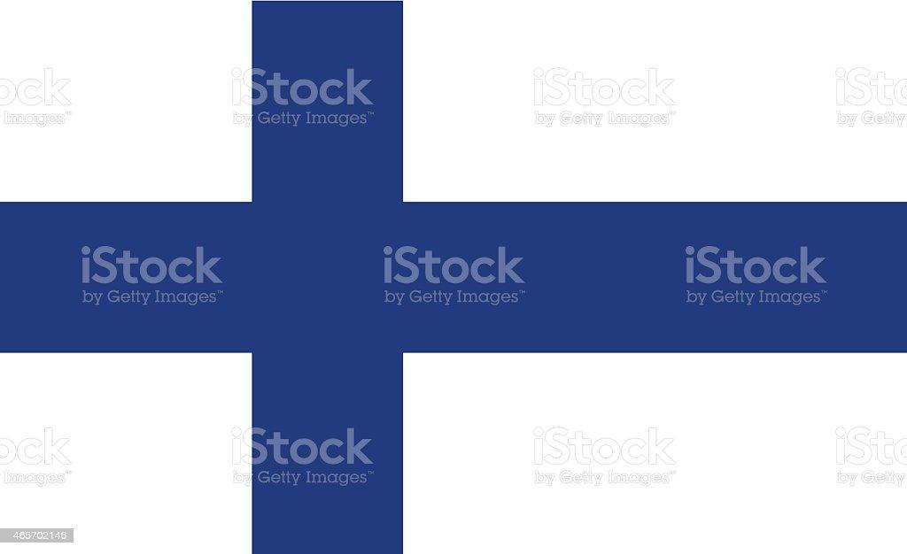 Finnische Flagge – Vektorgrafik