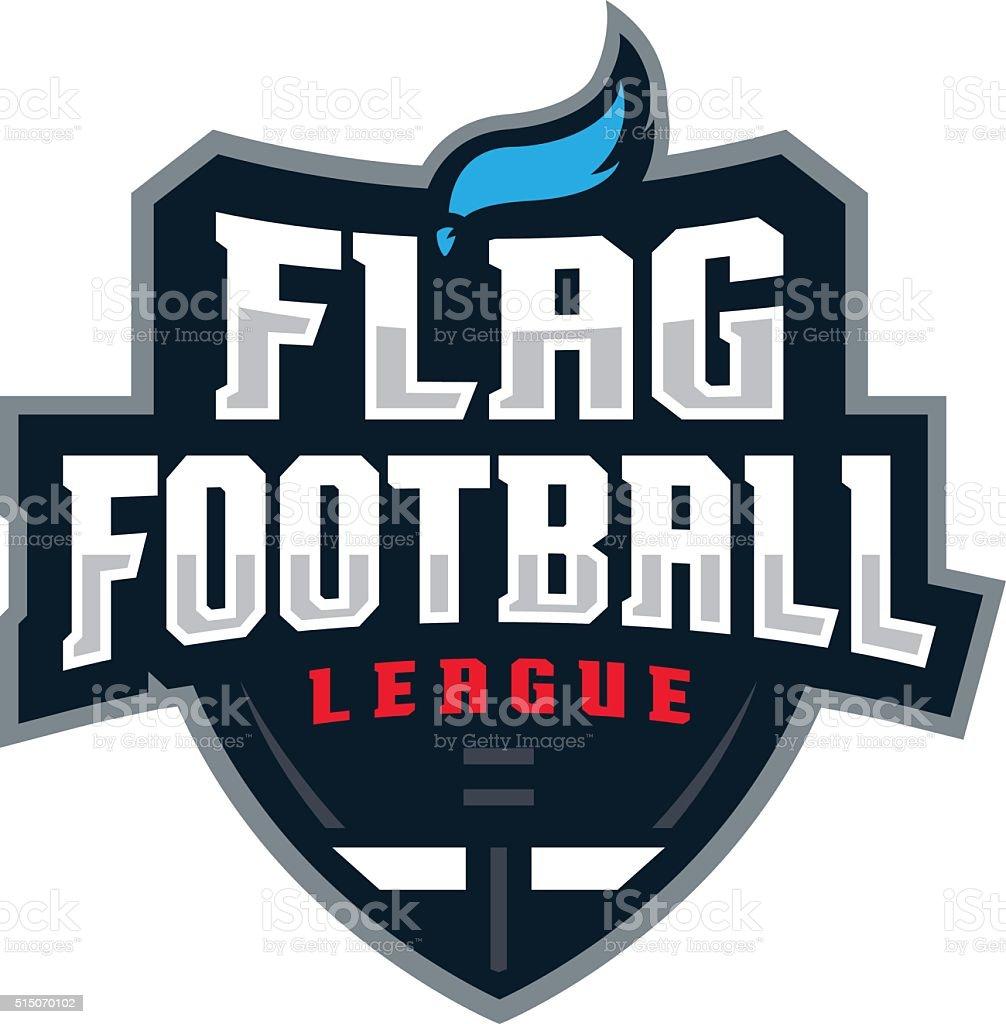 Flag Football League vector art illustration