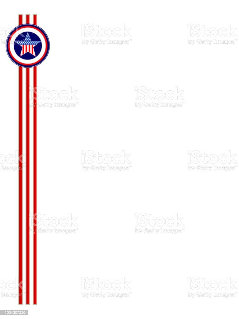usa flag frame ribbon template royalty free usa flag frame ribbon template stock vector art