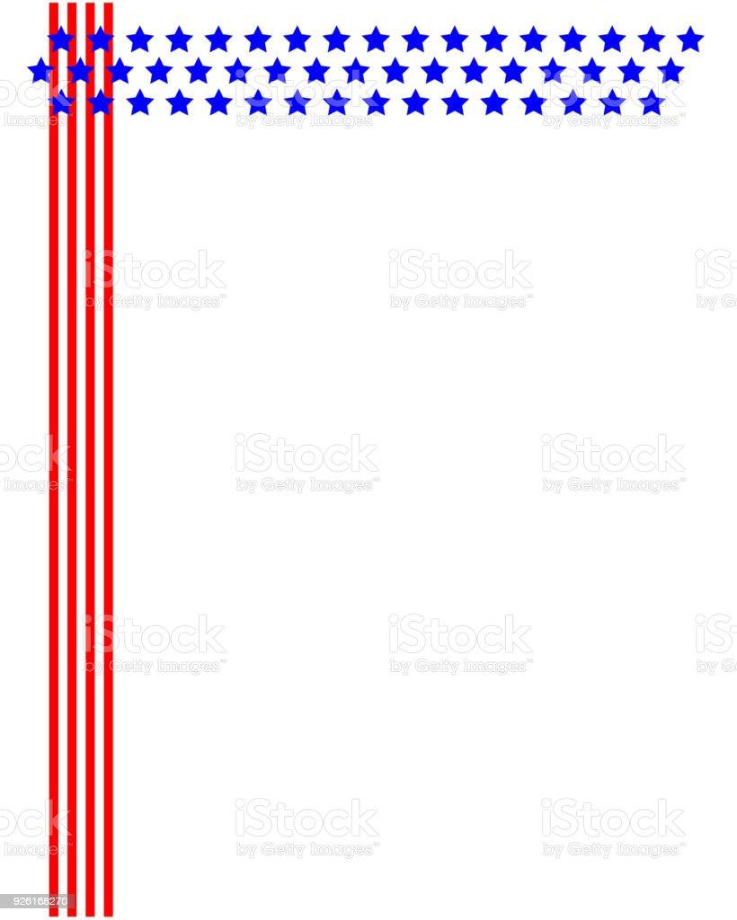 Ilustración de Bandera Usa Marco Plantilla y más banco de imágenes ...