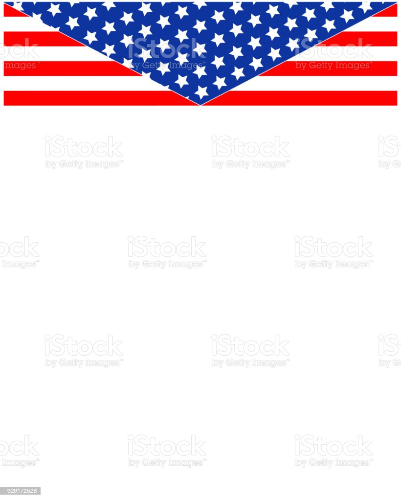 Usa Flag Frame Template Stock Vector Art & More Images of American ...