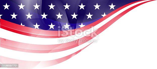 istock US flag frame 1156597701