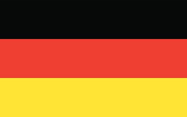 ilustraciones, imágenes clip art, dibujos animados e iconos de stock de bandera alemania - bandera alemana