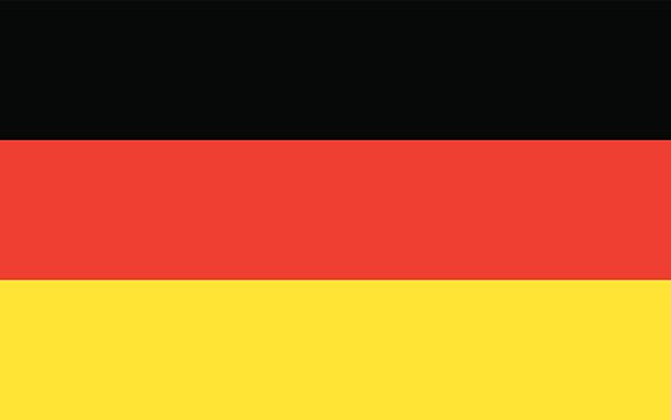 Flag Germany vector art illustration