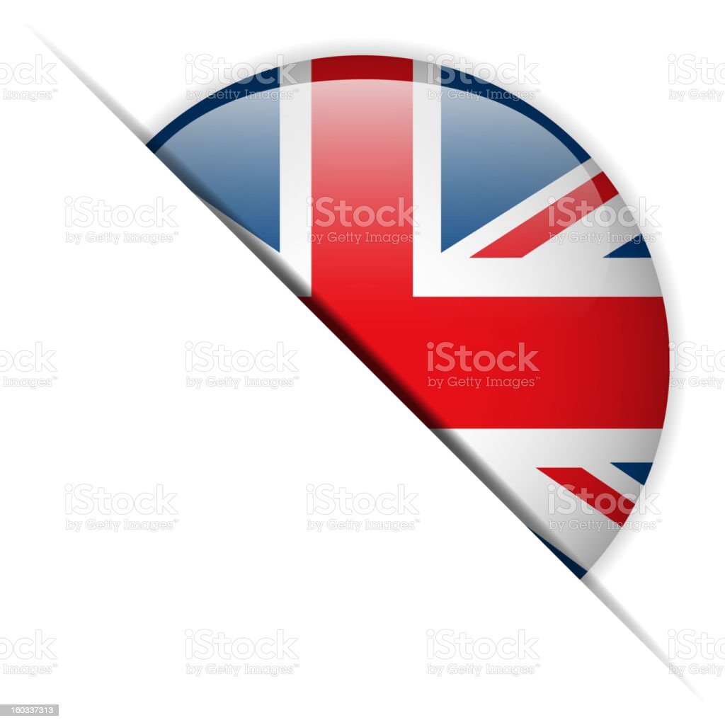 UK Flag Glossy Button Hidden royalty-free uk flag glossy button hidden stock vector art & more images of badge