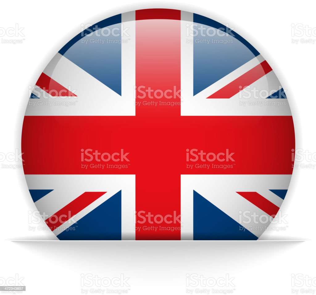 UK Flag Glossy Button Hidden royalty-free stock vector art
