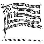 Flag Greece Drawing