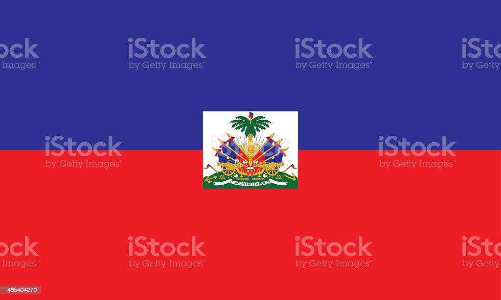 Flag Haiti vector art illustration
