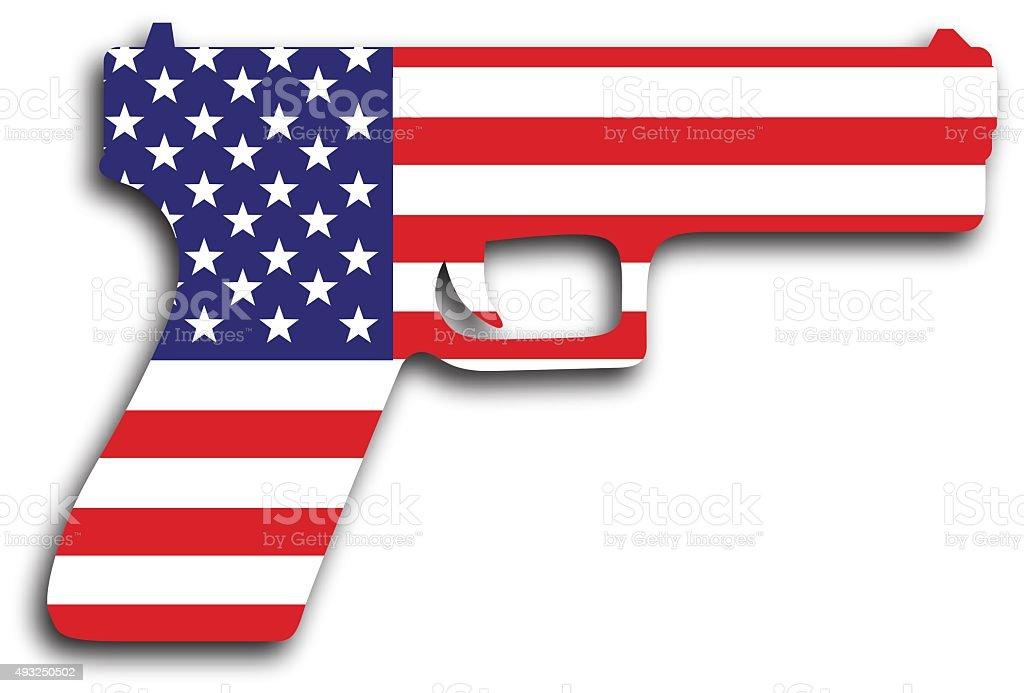 USA Flag Hand Gun