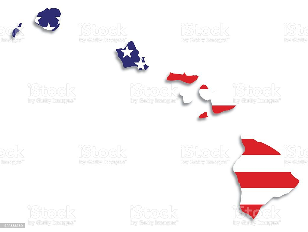 Usa Flag Hawaii Map Stock Vector Art & More Images of American Flag ...