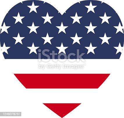 istock USA flag heart love icon 1249378751