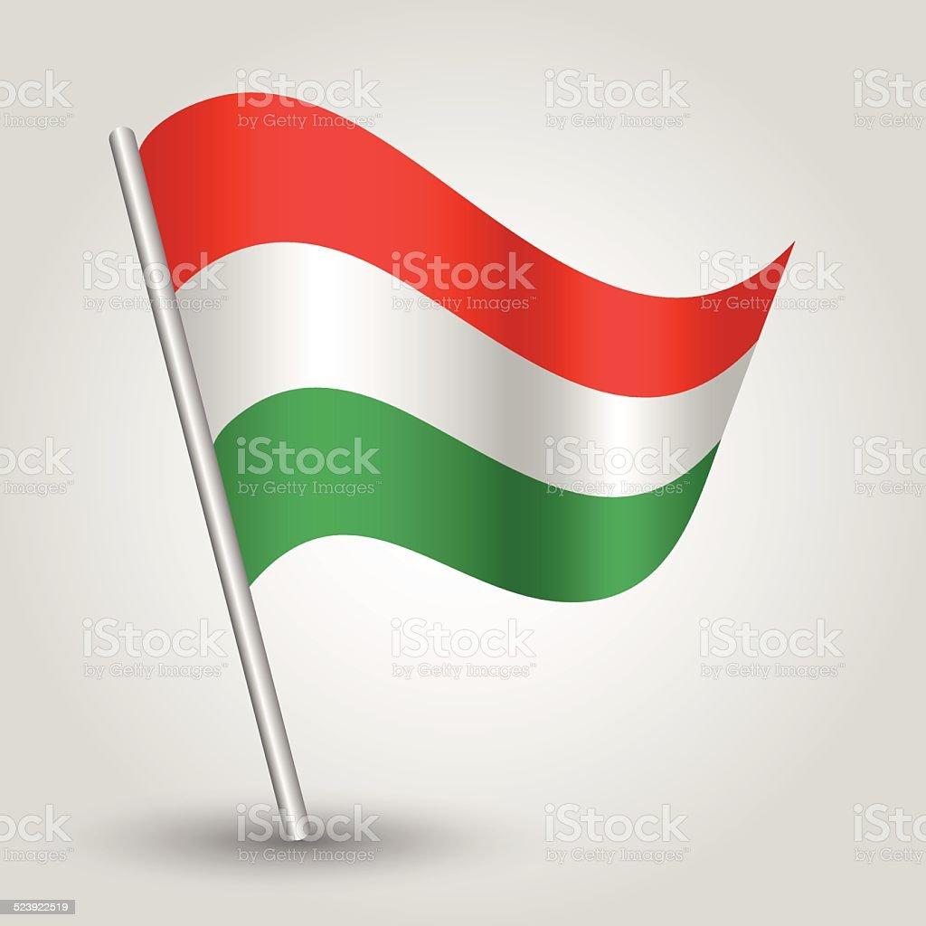flag hungary vector art illustration
