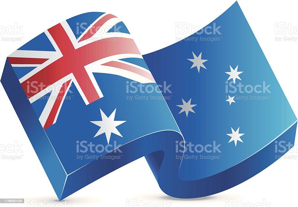 Flag Icon - Australia royalty-free flag icon australia stock vector art & more images of australia