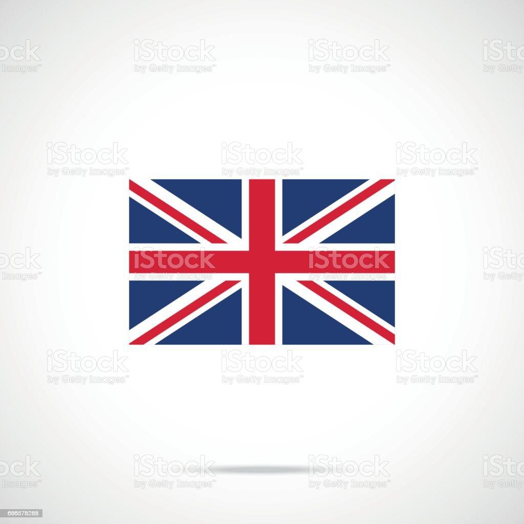 UK flag icon. British flag. United Kingdom, Union Jack concepts. Official color scheme. Premium quality. Vector illustration vector art illustration
